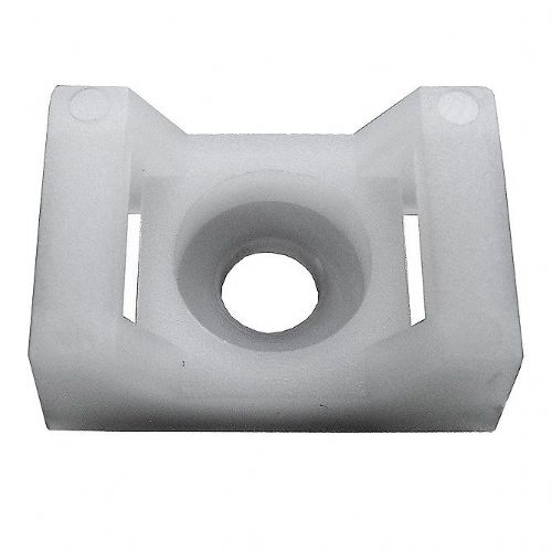 White Fixing Base for up to 9mm Cable Ties - 23 x 15mm-0-002-45